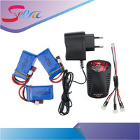 7 4V 1400mAh Lipo Battery 2 Or 3pcs Batteries And USB Charger For Wltoys A959 B