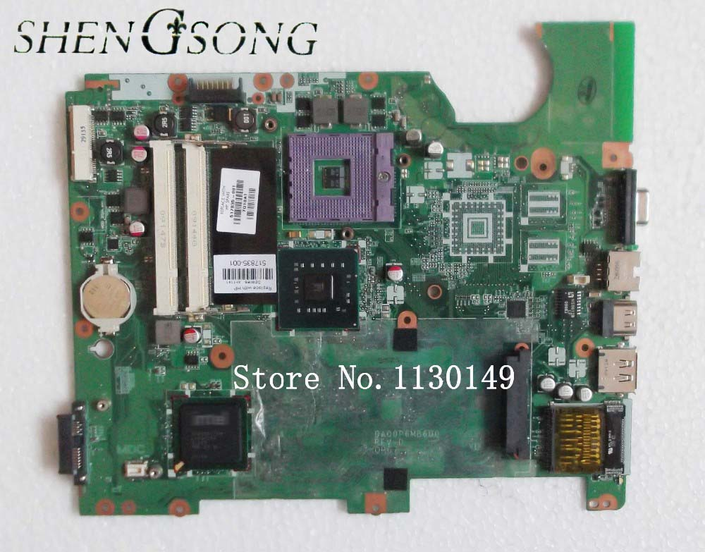 for HP G61 motherboard FOR Compaq Presario CQ61 series 517835-001 GL40 laptop motherboard fully tested & working perfect 744009 501 744009 001 for hp probook 640 g1 650 g1 motherboard socket 947 hm87 ddr3l tested working