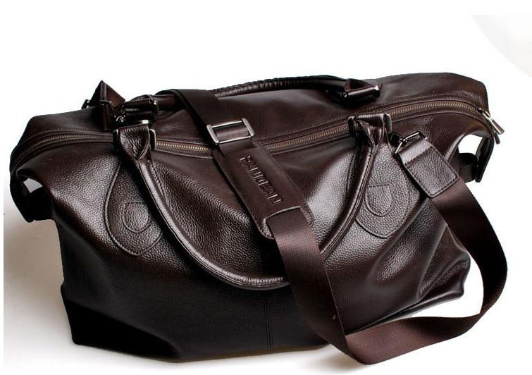 Svart / Brun 100% Garanterad äkta läder topp cowhide män läder - Väskor för bagage och resor - Foto 5
