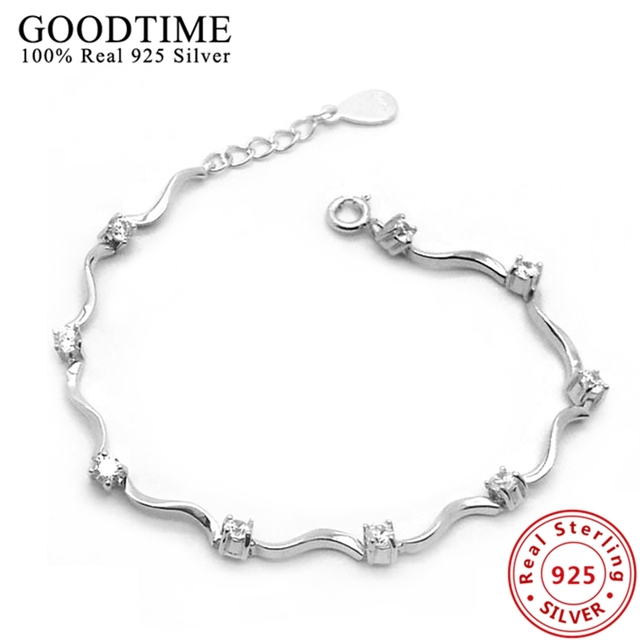 925 Sterling Silver Bracele Pure Bracelets For Women Real Jewelry