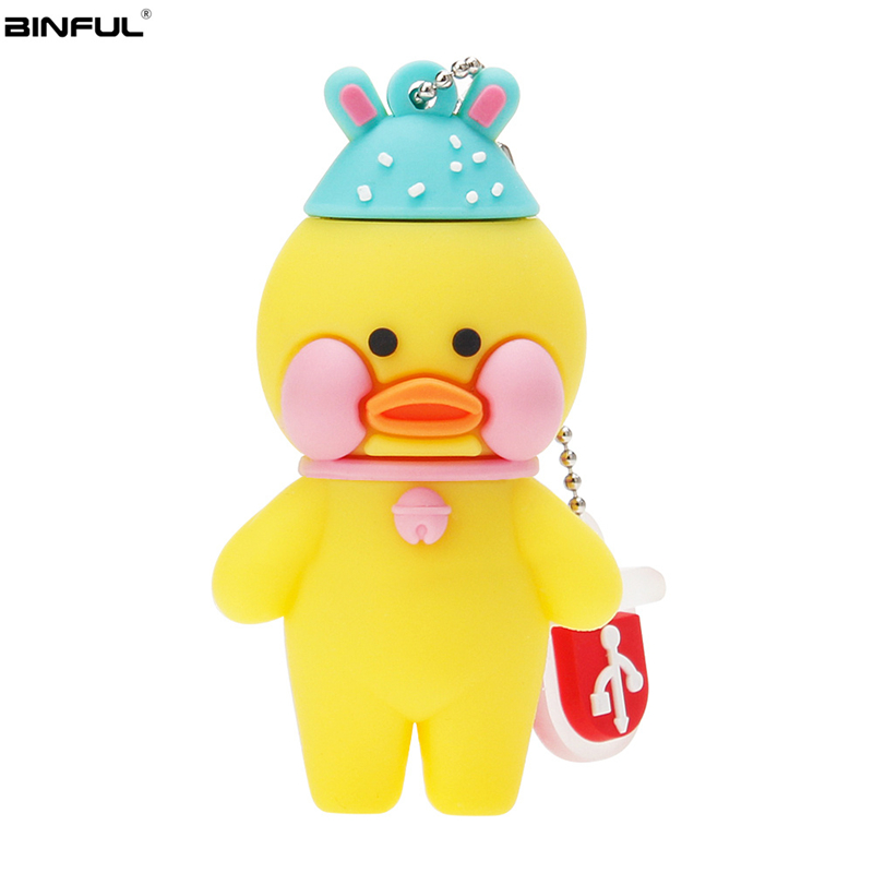 Image 4 - New Style Usb Flash Drive Fun Cartoon Hyaluronic Acid Duck Pen Drive 4G 8GB 16GB Memory Stick 32GB 64GB 128GB Pendrive Best Gift-in USB Flash Drives from Computer & Office
