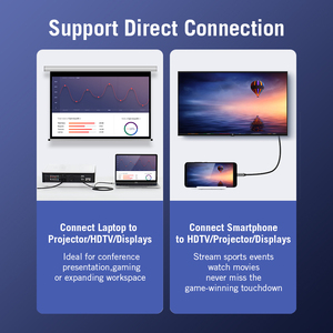 Image 4 - Kabel USB C HDMI 4K 60Hz HDMI typ c do HDMI 2.0 dla MacBook Samsung Galaxy S10/S9 Huawei Mate 20 P20 Pro Thunderbolt 3 Adapter