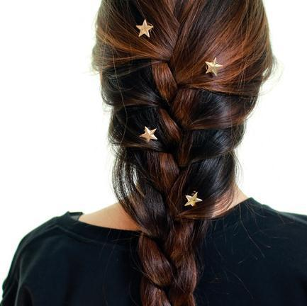 1PCS 2018 Korean edition latest gold stars coil spring clips hairpin Hair Jewelry for woman girl head accessories Wedding 02