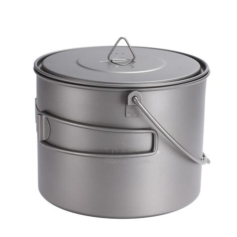 toaks titanium pot frigideira conjunto de panelas titanio com alca dobravel utensilios de mesa ao