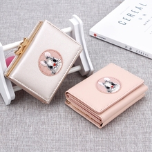 Wallet Female PU Leather Women Wallets Hasp Coin Purse Embroidery Cute Small Card & ID holder Mini Pu
