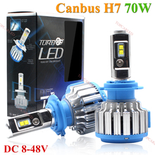 Super Bright Car Headlights LED H7 70W 7000LM Canbus Auto Front Bulb Automobile Waterproof  Headlamp 6500K Car Lighting