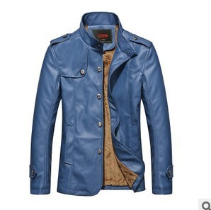 High quality 2016 autumn winter new solid color explosion models hot sale fashion city Slim men leather jacket Cheap wholesale