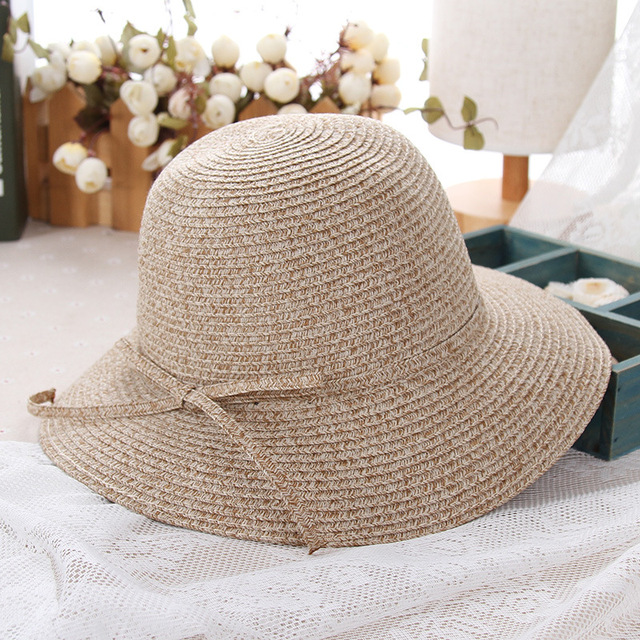 Women Summer Hat Adult Casual Straw Sombrero Hat with A Wide Brim Large  Hats Beach Sun Cap for Ladies Bucket Chapeau 2018 d1e612d4fb00