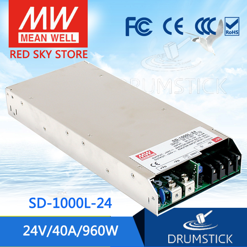 цена на Genuine MEAN WELL SD-1000L-24 24V 40A meanwell SD-1000 24V 960W Single Output DC-DC Converter