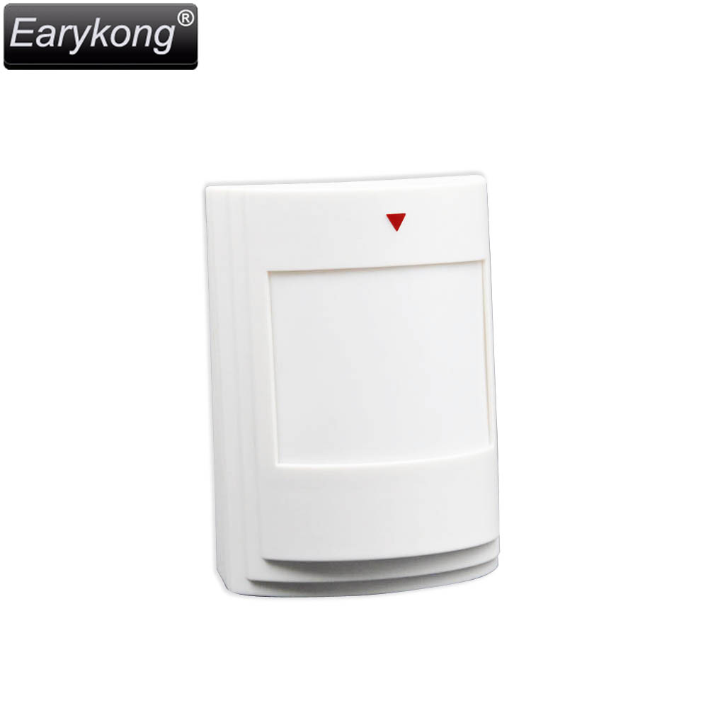 Wired PIR Infrared motion detector, for Home Burglar GSM alarm system, wired pir curtain detector for burglar alarm system