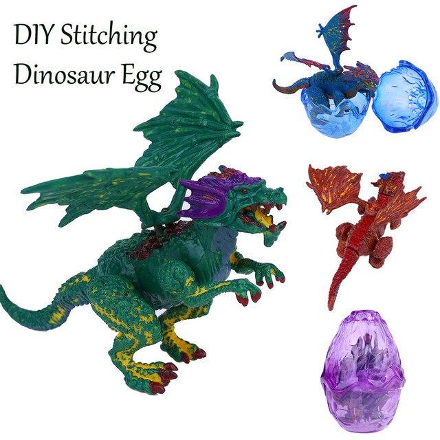 Criativo bola dragão DIY Costura Brinquedo Modelo Pterossauro Dinossauro Ovo Presente de ano Novo brinquedos educativos para crianças Dropshipping