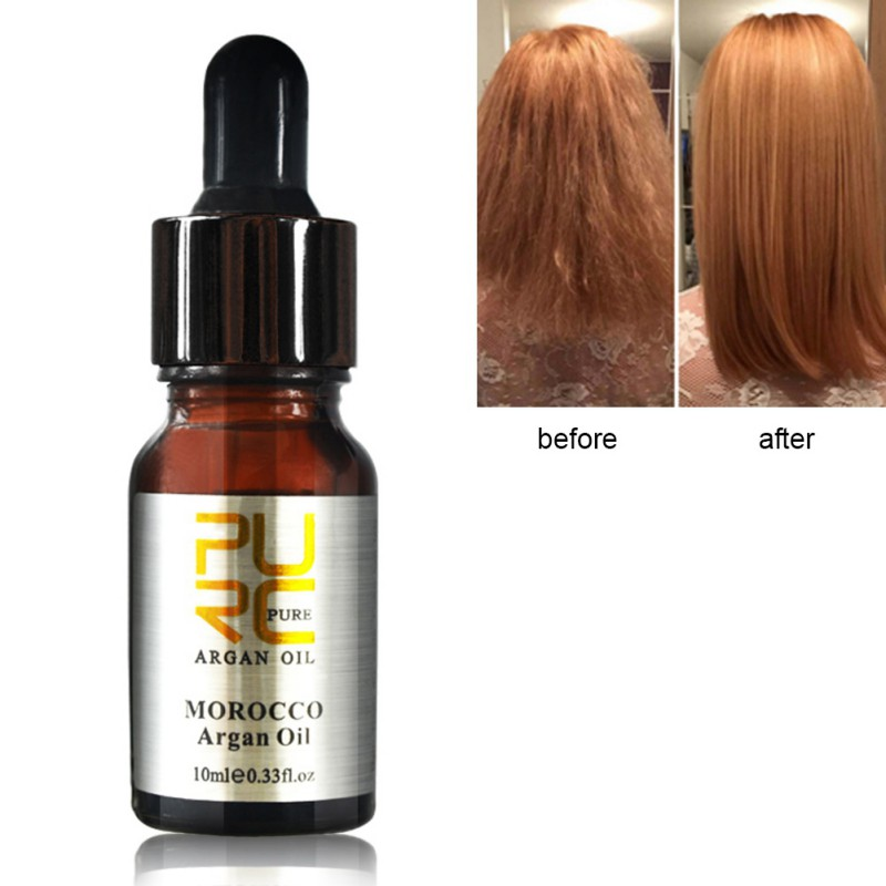 10ml Hair Beauty Moroccan Pure Argan Moisturizing Oil For Dry Hair Care Treatment For Women