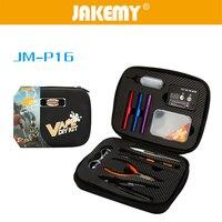 JAKEMY 12 In 1 JM-P16 FAI DA TE Kit di Sigaretta Elettronica Atomizzatore Coil Borsa Degli Attrezzi Ricambi Vape Strumento Mano Set di Cacciaviti