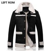 LEFT ROM 2017 Fashion Men Are Upscale In Winter Deer Velvet Casual Jacket Men S Increases