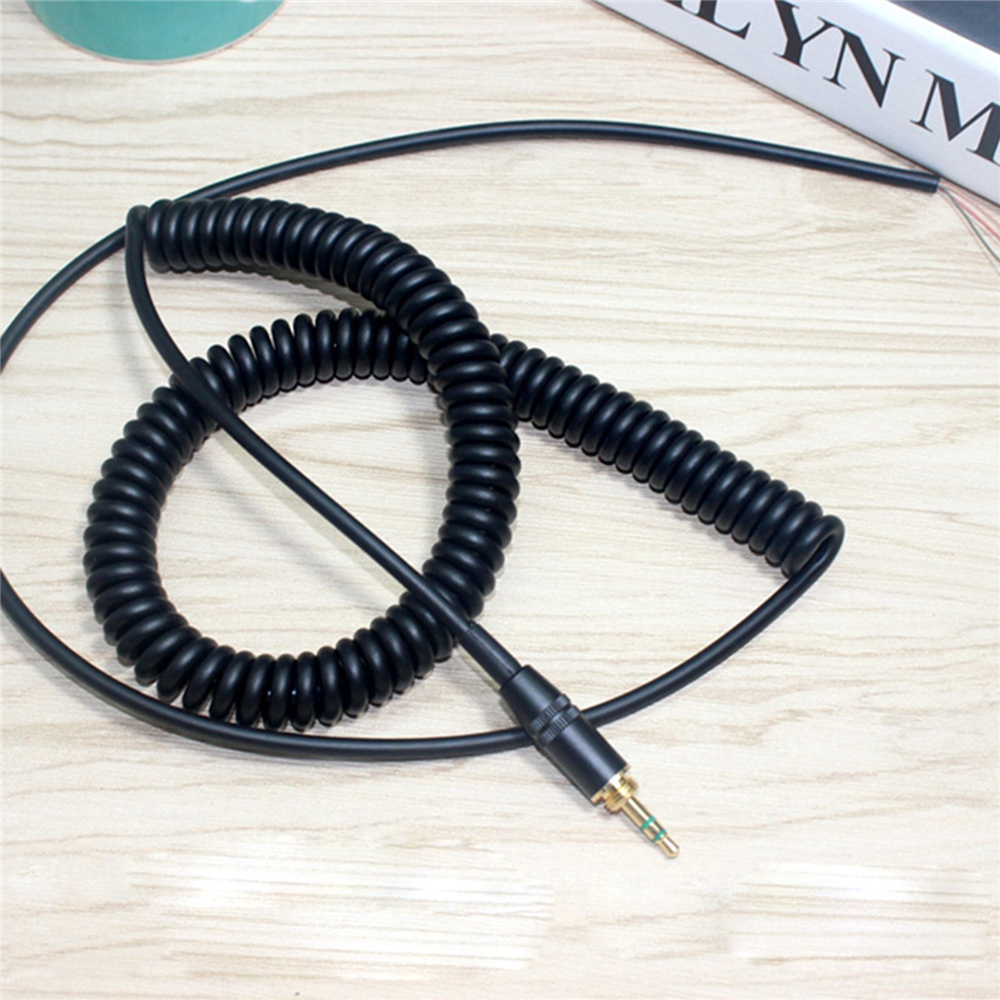Replacement DJ Headphone Cord Cable for MDR-V6 MDR-7506 DJ Headphones Coiled Repair Cable with Cable Wire Line Plug