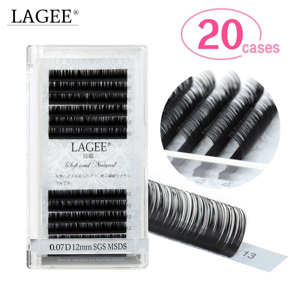 LAGEE 20 cases Super soft mink eyelash extensions individual eyelashes natural eyelashes classic all size J