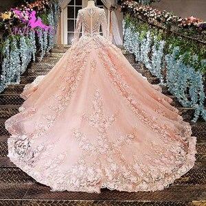 Image 3 - AIJINGYU Cucire Abito Da Sposa Semplice Abiti di Sfera Del Merletto Dubai Nuovo 2021 2020 Weddimg Abiti Negozi Cina Occidentale Da Sposa Abito Da Sposa