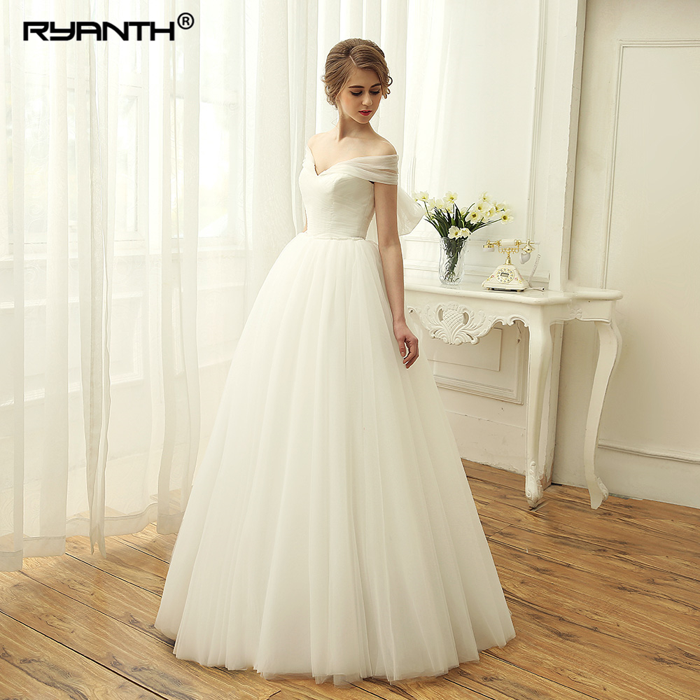 Robe de mariage 2019 Sexy  Floor Length Ball Gown Detachable train Wedding Dress For Party 2 en 1 Lace Up Back Wedding Gowns gown
