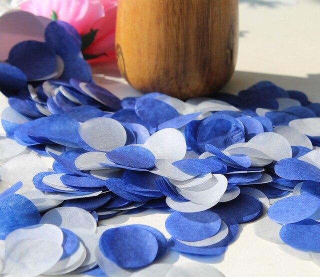 Navy Blue Grey Silver Wedding Heart Circle Confetti Birthday