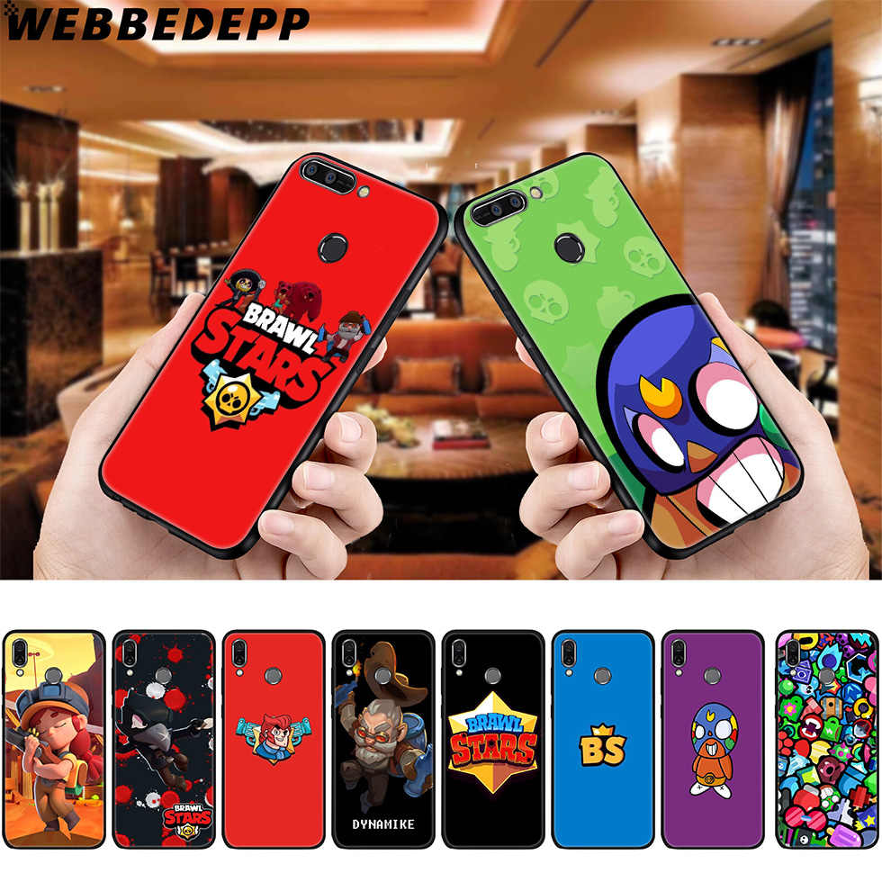 WEBBEDEPP Brawl Stars Soft Case for Huawei P8 P9 P10 P20 P30 Lite Pro P Smart Z Plus 2019 Y6 Prime 2018 2017 Lite Mini