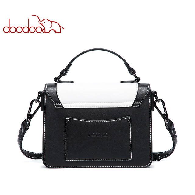 DOODOO Women Bag Female Shoulder Crossbody Bags Ladies Artificial Leather Mosaic Pattern Water Wave Texture 2018 Messenger Bags