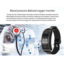 Smart Heart Monitor Leather Watch