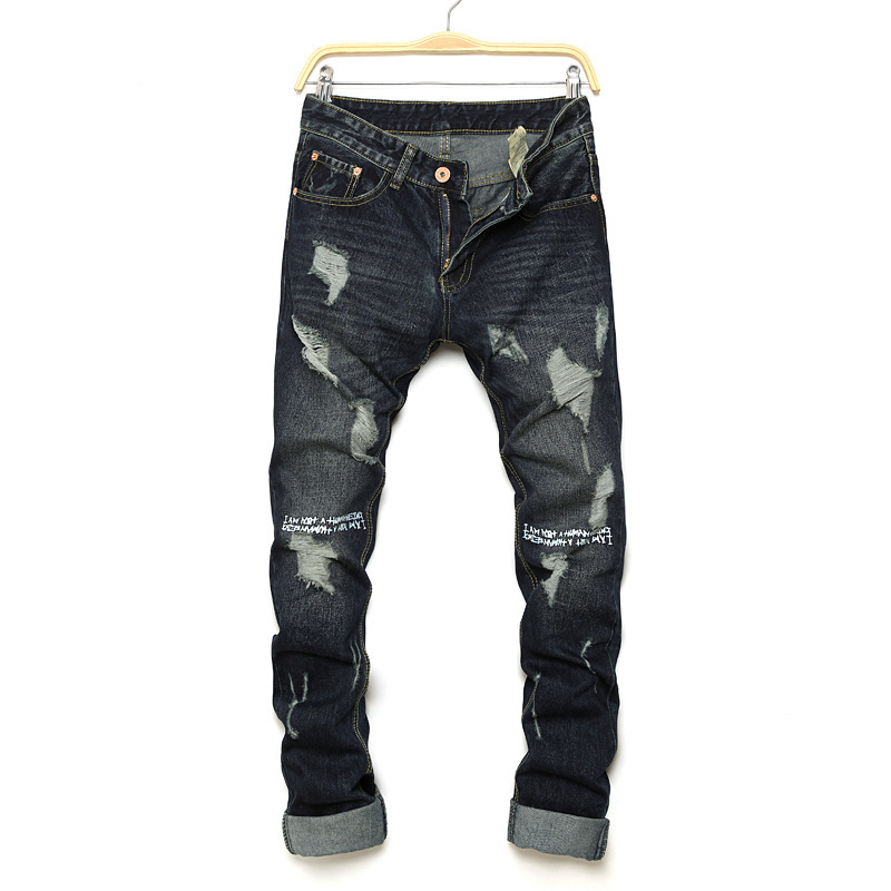 Mens Jeans Pants New Brand Designer Slim Fit Straight Jeans For Man Cotton Casual Denim Regular Jeans Trousers
