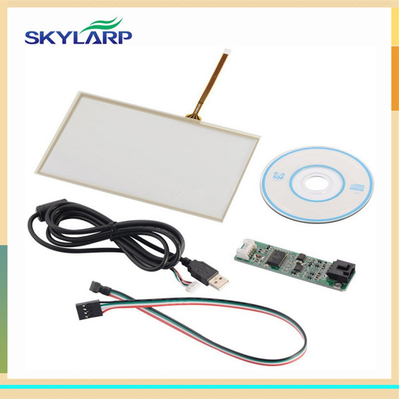 Skylarpu 7 inch 165mm*100mm Touch screen Panel USB driver card Kit for AT070TN90 for Raspberry Pi Free shipping