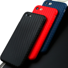 Carbon Fiber Case for iphone 8 plus 7 Luxury 6 6S Cover Silicone 5 5S SE case