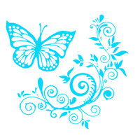 Butterfly Flower Car-Styling Vehicle Body Window Reflective Decals Sticker Decor 6