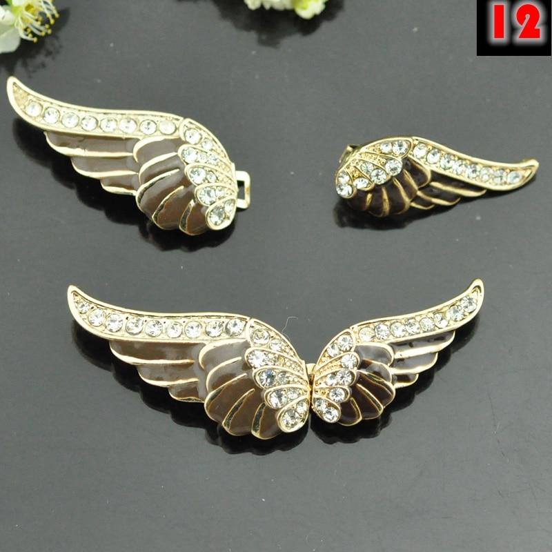 zwanen vleugels vlinder Hoogwaardige strass metalen gespen knoppen - Kunsten, ambachten en naaien