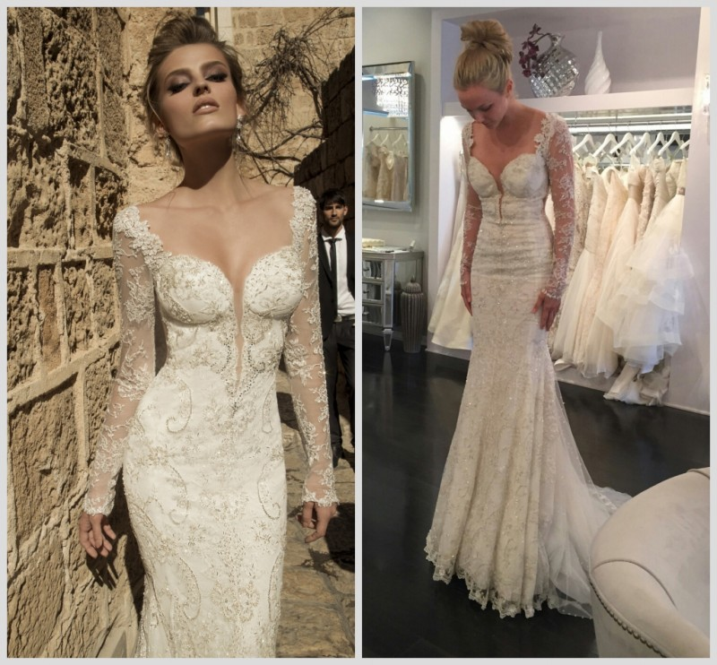 Luxury wedding dresses with diamonds and crystals backless for Diamond mermaid wedding dresses