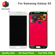 Livraison Gratuite Pour Samsung Galaxy S5 Écran lcd i9600 SM-G900 G900F Écran Tactile Digitizer Assemblage de Haute Qualité Pas de pixel Mort