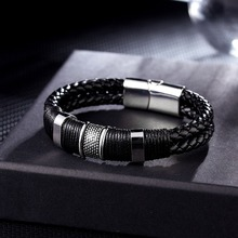 Rinhoo Handmade Vintage Leather Magnet Rope Chain Bracelet Fashion Jewelry Exquisite Acces