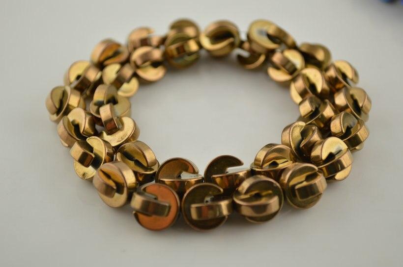 ⑥Rose color oro hematite 3x11mm entallado forma moneda ...