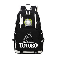 My Neighbor Tototo Kawaii Style Printing Laptop Backpack Large Capacity Canvas Military Backpack Anime Cartoon Women