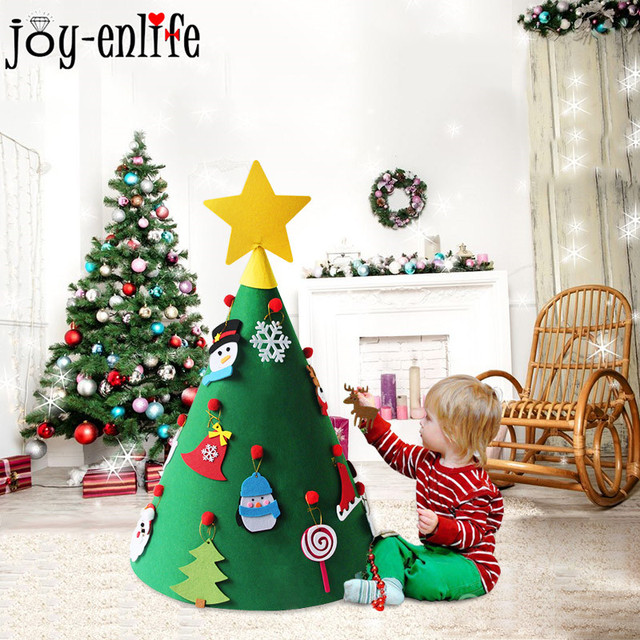 Kinder Geschenke Weihnachten 2019.Us 15 59 Kinder Geschenke Für Das Neue Jahr 2019 Diy Grüne Weihnachten Baum 3d Fühlte Baum Weihnachten Decor Hängende Ornamente Navidad Noel