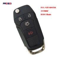 PREISEI 3 + 1/4 Botão Aleta Dobrar Chave Remota Inteligente 315 Mhz Chave Do Carro Para Ford Fusion 2013 2014 2015 FCC ID: n5F-A08TAA HU101 Lâmina