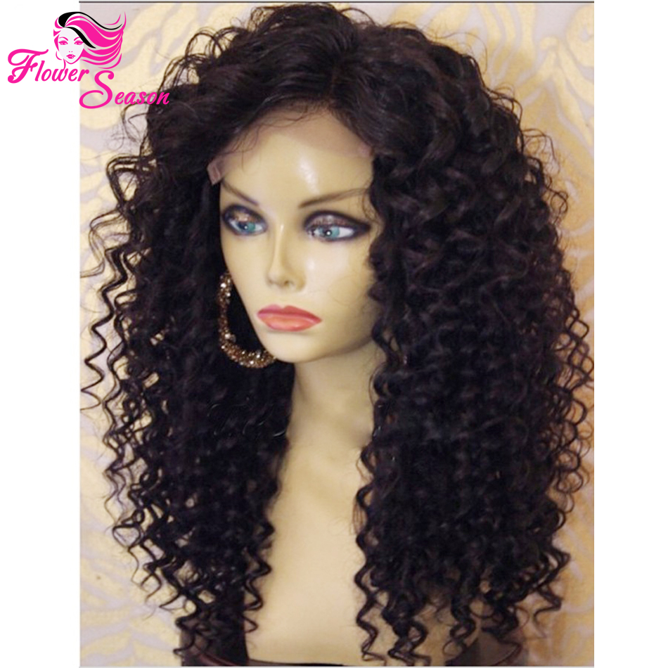 Mongolian Kinky Curly Human Hair Wig For Black Women 150 ...