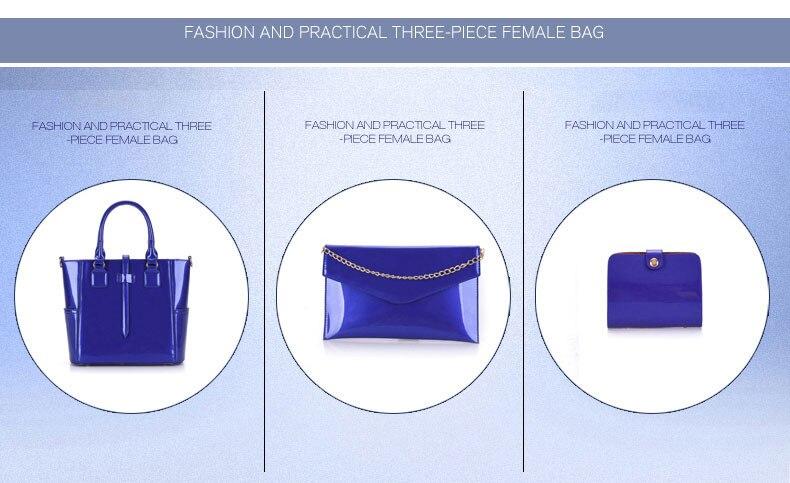 Ladies Handbag+Girls Shoulder Bag+Purse 3 Sets