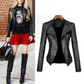 2017 Spring Women PU Leather Coat Fashion Short Design Leather Overcoat Suede Casual Motorcycle Brand Leather Jacket