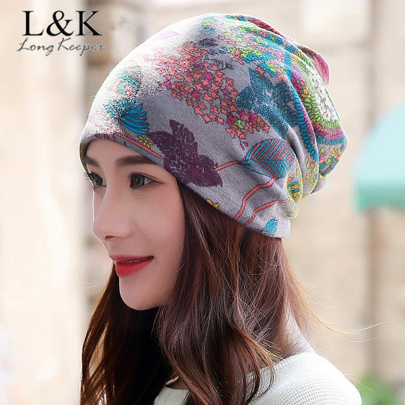 Long Keeper Women Brand Designer Winter   Beanies   Multi Purpose Ladies Warm Hats & Scarf   Skullies   Vintage Face Mask Girls Gorros