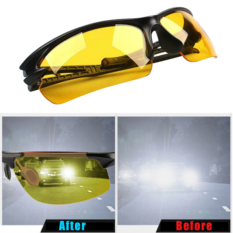 Night Vision Goggles Motorcycle Drivers Night-vision Glasses Night with Luminous Driving Glasses Protective Gears Sunglasses