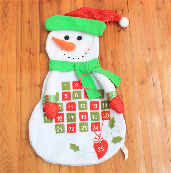 Lovely Cute 2017 Snowman Countdown To Christmas Ornament Decor Advent Calendar In Pendant Drop Ornaments From Home Garden On