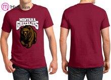 be55a7c7 Maueken 2018 Print logo Montana Grizzlies T-Shirt Men Short Sleeve 100%  cotton O Neck