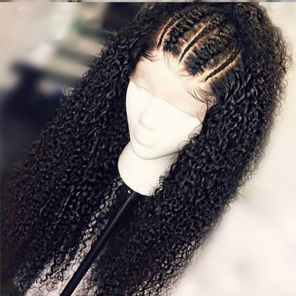 Simbeauty Curly Full Lace Human Hair Wigs For Black Women Glueless  Peruvian Remy Pre Plucked Hairline With Baby Hair