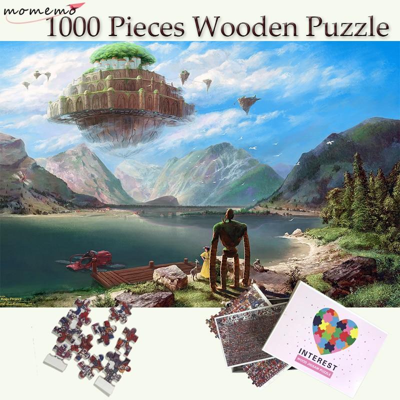 MOMEMO Laputa:Castle In The Sky Wooden Puzzles 1000 Pieces Hayao Miyazaki Anime Jigsaw Puzzles 1000 Pieces Adults Puzzle GamesMOMEMO Laputa:Castle In The Sky Wooden Puzzles 1000 Pieces Hayao Miyazaki Anime Jigsaw Puzzles 1000 Pieces Adults Puzzle Games