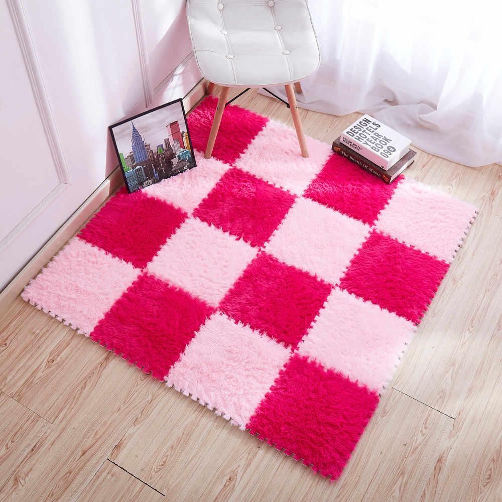 30x30 см, ковер для гостиной/спальни, ковер пэтчворк, Детский ковер, пенный коврик-пазл, EVA, длинный пух, Детский эко-пол, alfombra tappeto