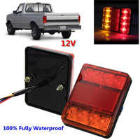 1 Pair 8 LED Waterproof Car Rear Tail Stop Lights Acrylic Indicator Lamp For Trailer Truck