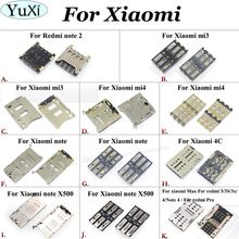 YuXi Sim Card socket holder reader slot connector tray Replacement for Xiaomi Mi 3 Mi3 Mi4 note note X500 4C MAX for Redmi note2(China)